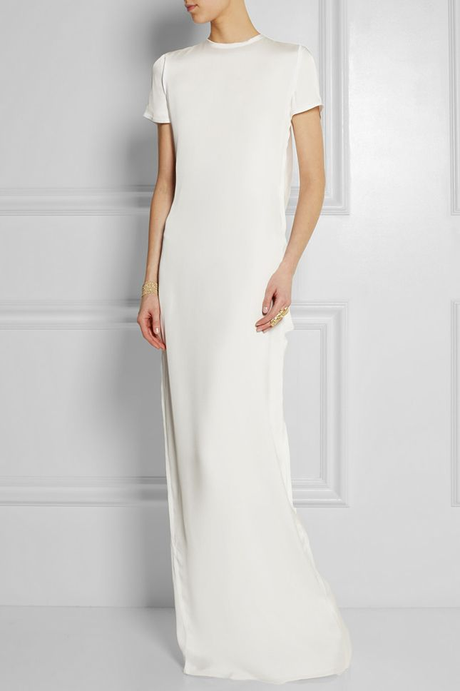 Keep it simple with a stunning white gown.