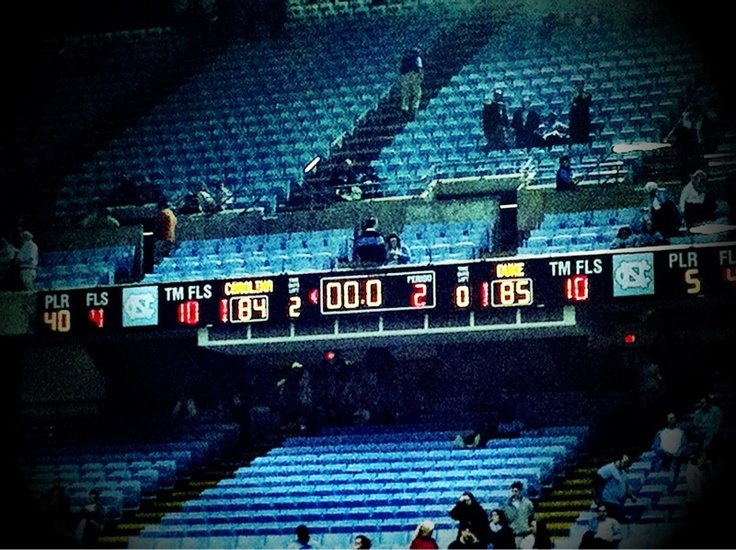 The final score of as good a Duke/UNC game as you will ever see...