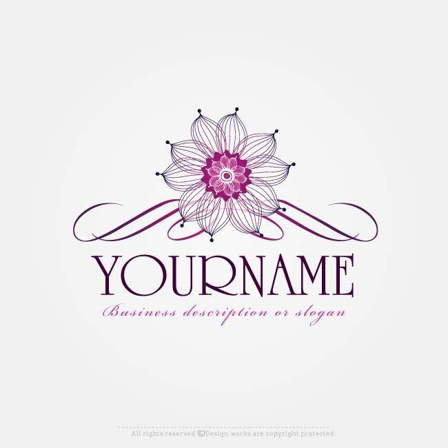 7a4027284 Online Free Logo Maker - Flowers logo design