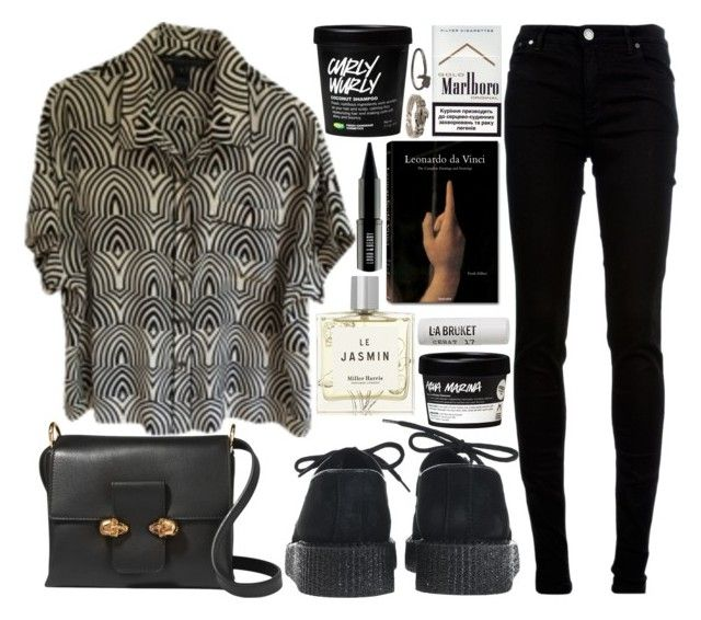 """twin skull"" by velvet-ears ❤ liked on Polyvore featuring Marc by Marc Jacobs, dVb Victoria Beckham, Underground, Alexander McQueen, Miller Harris, Taschen, Lord & Berry and L:A Bruket"