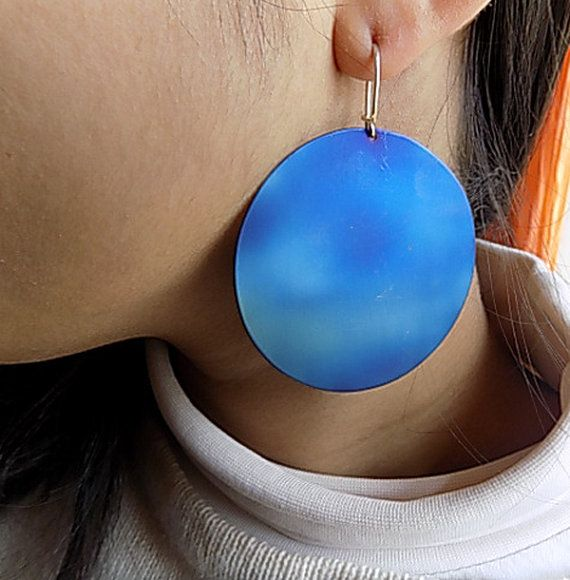 large titanium earringsfor her by atermono on Etsy
