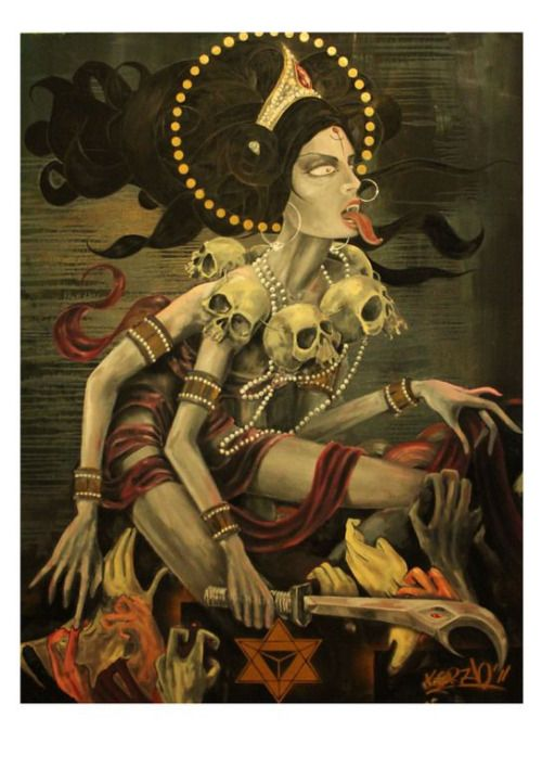 sex-death-rebirth: Kali Ma by Alex Korzh   the knowledge of sex and death