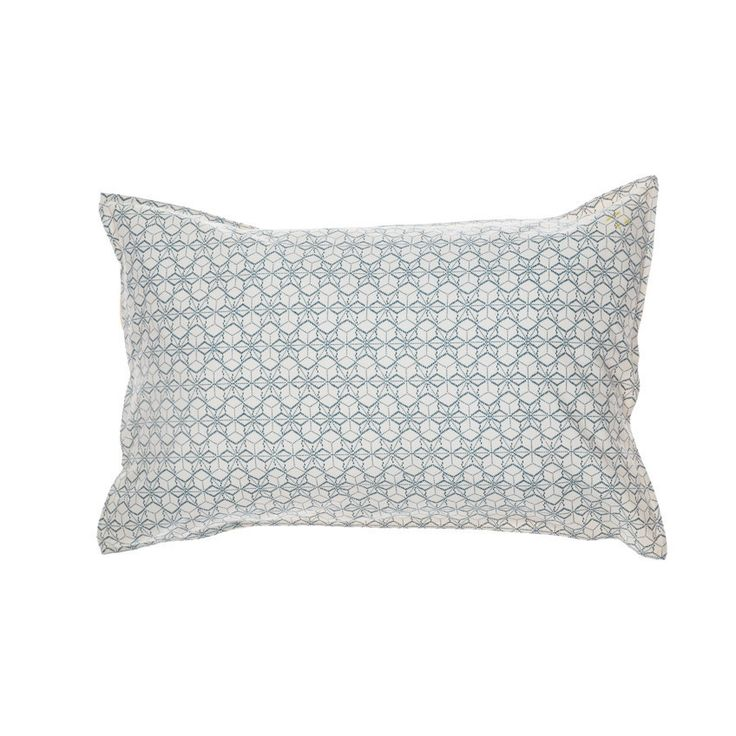 Camomile London Standard Pillow Case Dash Stars In Ivory/Indigo | Scandi Mini