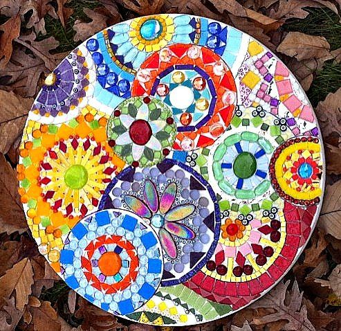 """""""Clockworks"""" ungrouted by Claire Roche Mosaics, via Flickr"""