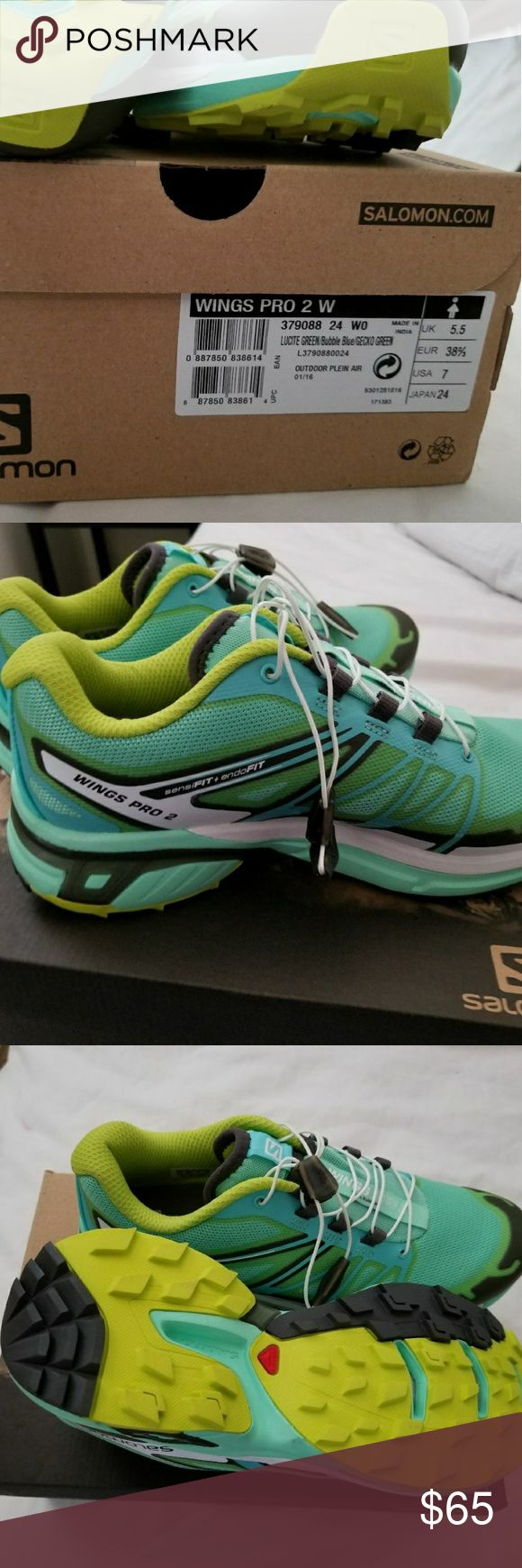 Salomon Wings Pro 2 for woman I sale Salomon Wings Pro 2 size 7 for woman never used brand new n box Salomon Shoes Athletic Shoes
