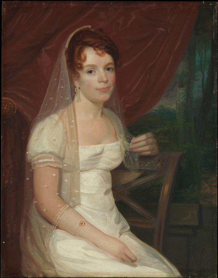 John Wesley Jarvis  (American (born England), South Shield 1780–1840 New York) Mrs. Robert Dickey (Anne Brown
