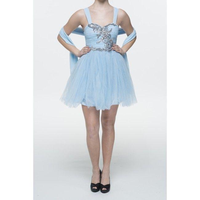 blue prom dress!!
