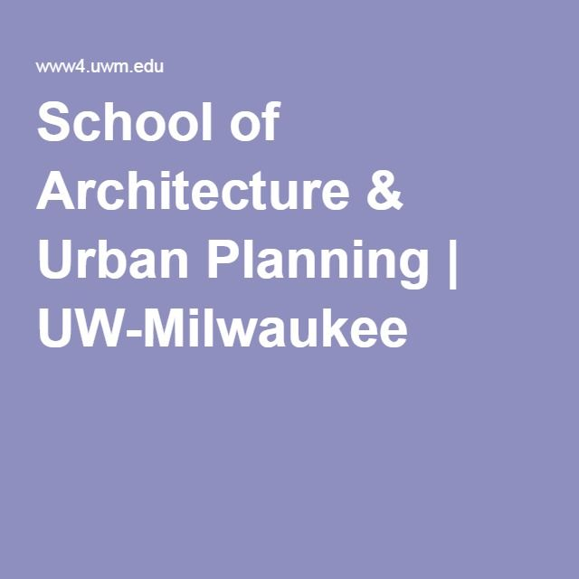 School Of Architecture Urban Planning
