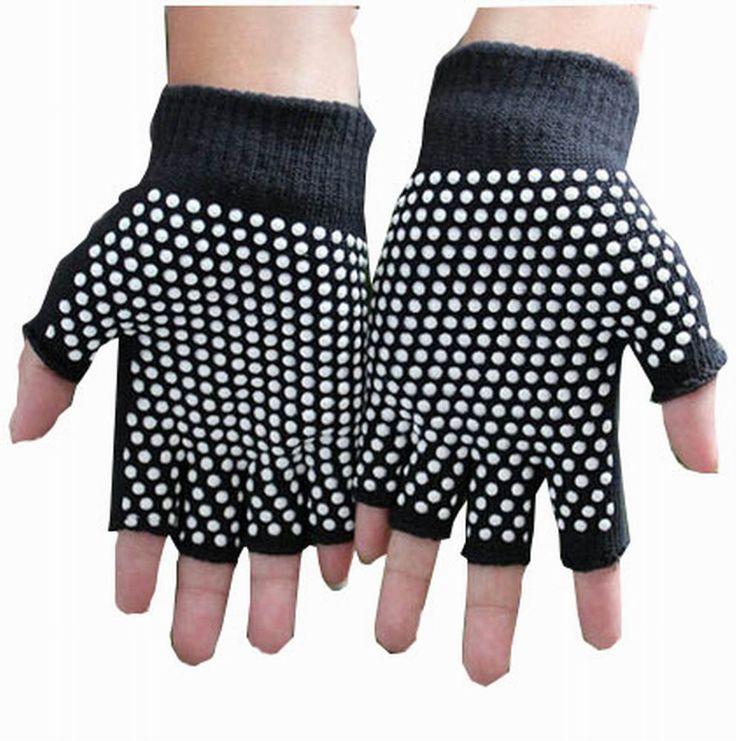 Women's Yoga Gloves Practical Non-slip Cartoon Gloves, Black