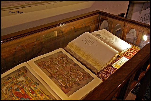 """""""The Book of Kells"""" and """"The Book of Armagh"""" , housed in St Patricks Cathedral (Church of Ireland) , Armagh."""