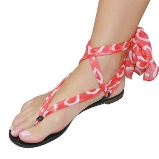 Shutini's Urban Swirl Strap features a long, patterned strap made out of luxurious chiffon. On #sale for $9.95. #shoes