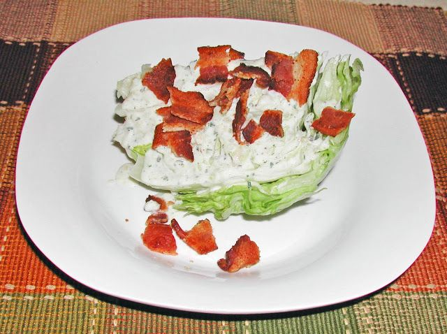 The Iowa Housewife: From The Garden...Lettuce Wedge Salad