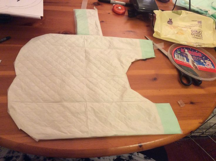Dog Jacket Template (made from a puppy pad!)