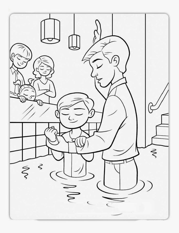 Beautiful Lds Prayer Coloring Page 87 Baptism coloring page