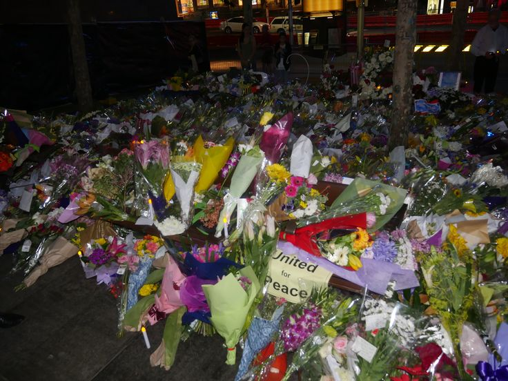 Flowers to the Victims of Martin Place.