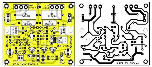Power Amplifier Super Ocl 500w Circuit Com Imagens