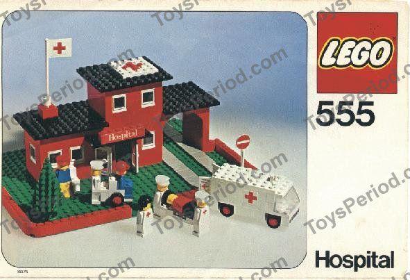 vintage lego sets | LEGO 555-1 Hospital Set Parts Inventory and Instructions - LEGO ...