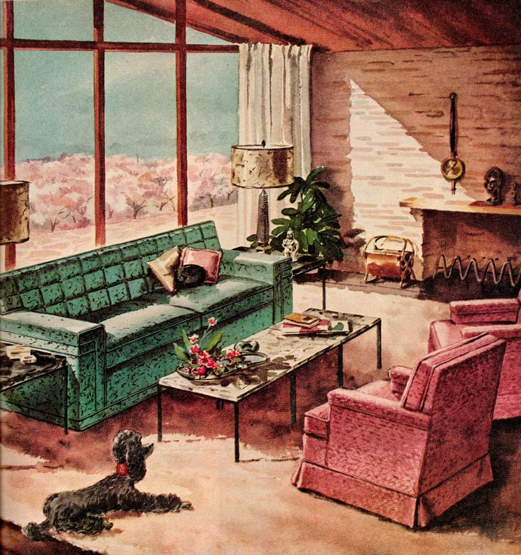 1950s living room a collection of ideas to try about home decor furniture modern living. Black Bedroom Furniture Sets. Home Design Ideas