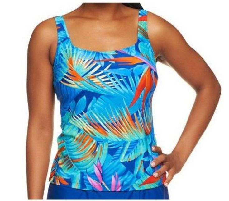 Silver by Gottex Blue Paradise Tankini Top A234090 #SilverbyGottex #TankiniTop