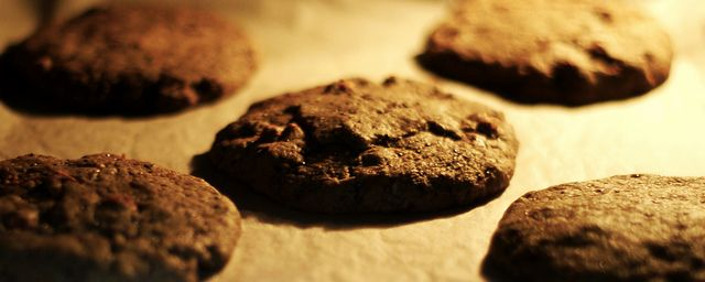 Lembas Cookies in the oven.