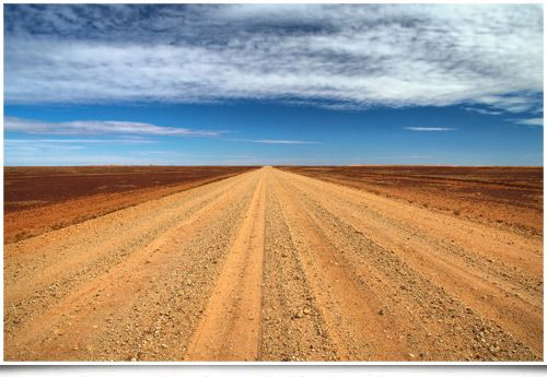 The Birdsville Track - stretching 520km (323miles) from Marree in South Australia to Birdsville in Queensland, one of the best known and loneliest roads in Australia.