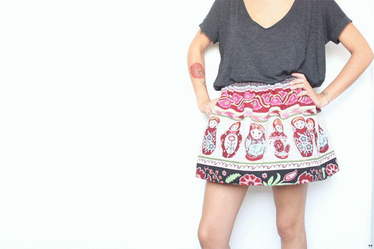 Une touche de rose : La jupe Patineuse