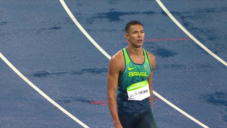 Brasileiro cai no final da corrida e se classifica nos 110m com barreiras
