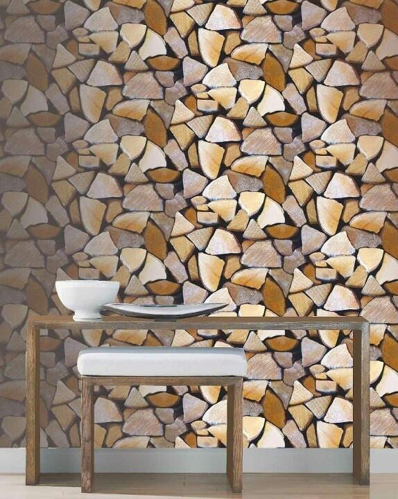 Cool woodpile wallpaper
