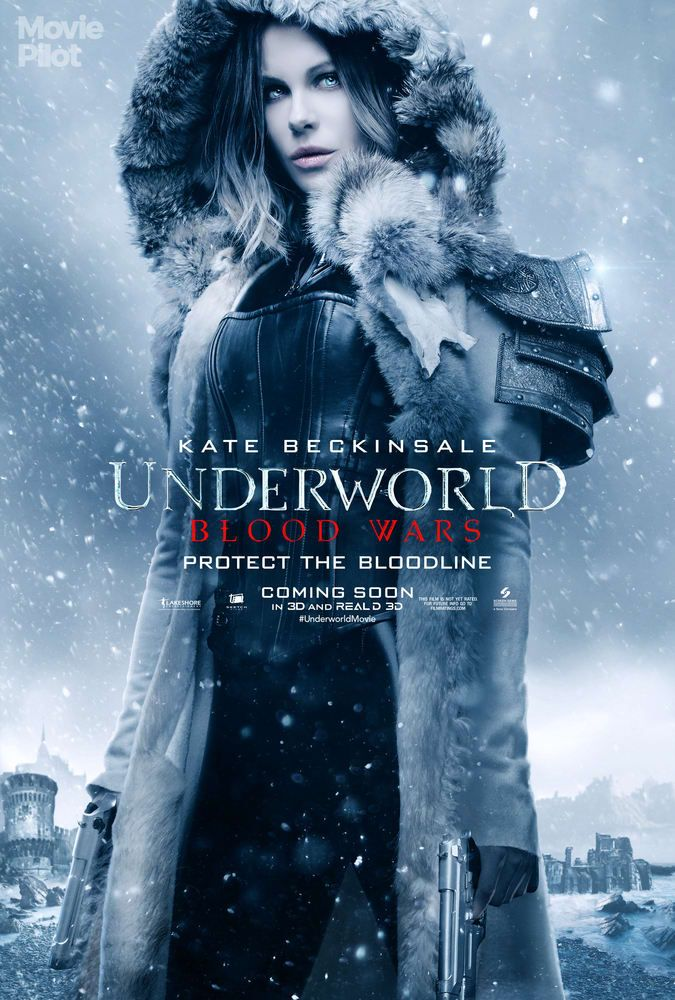 Selene character poster for Underworld: Blood Wars #Kate_Beckinsale