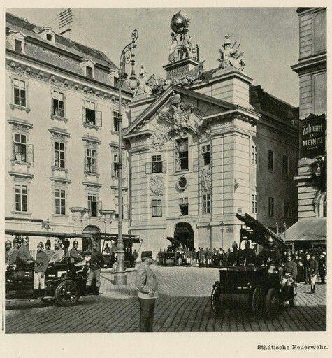 Vienna, Städtische Feuerwehr, Am Hof 1900
