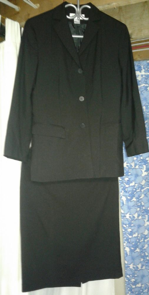 Ladies Brooks Brothers Brooksease 2 Piece Navy Blue Dress Suit Size 6 100% Wool #BrooksBrothers #2Piece