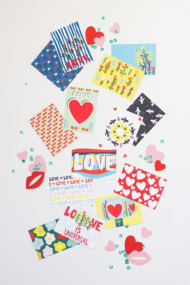 FREE Printable Illustrated Valentine's Day Cards by Caitlin Watson Boyes