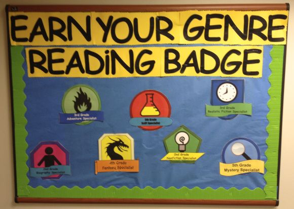 Earn Your Genre Badge Display | could make into passive program maybe for next WRP