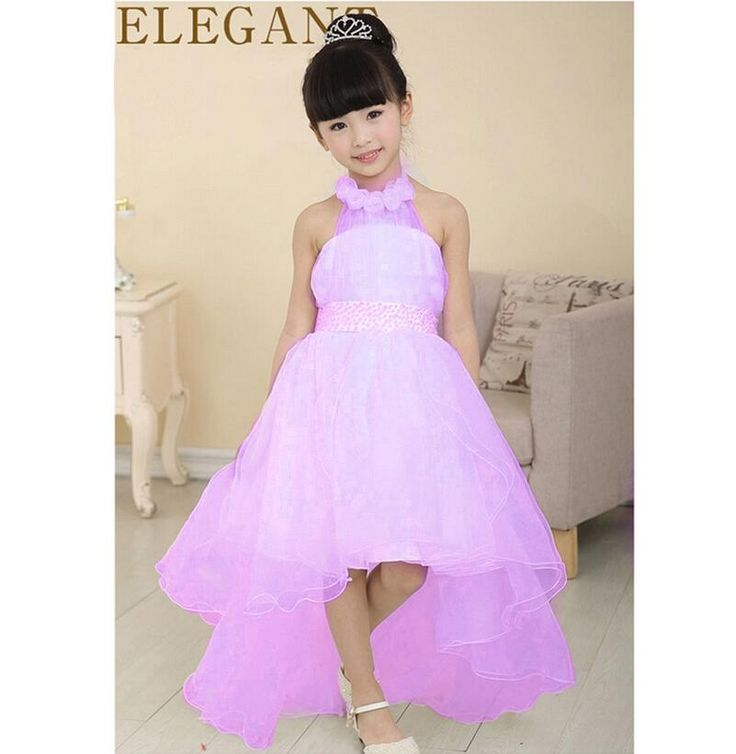 2016 Nieuwe Zomer Baby Meisjes Feestjurk Avondkleding Lange Staart Meisjes Kleding Elegante Bloem Meisje Jurk Kids Baby Jurken(China (Mainland))