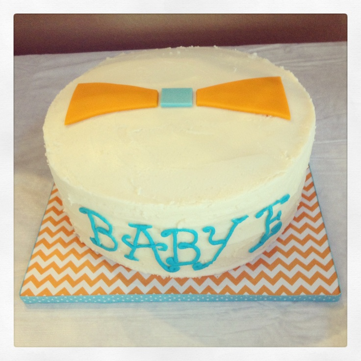 bow tie baby shower cake made by bash pretty edibles pinterest