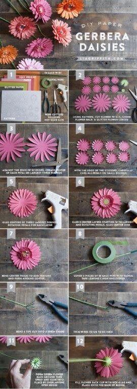 Doe het zelf papieren bloem