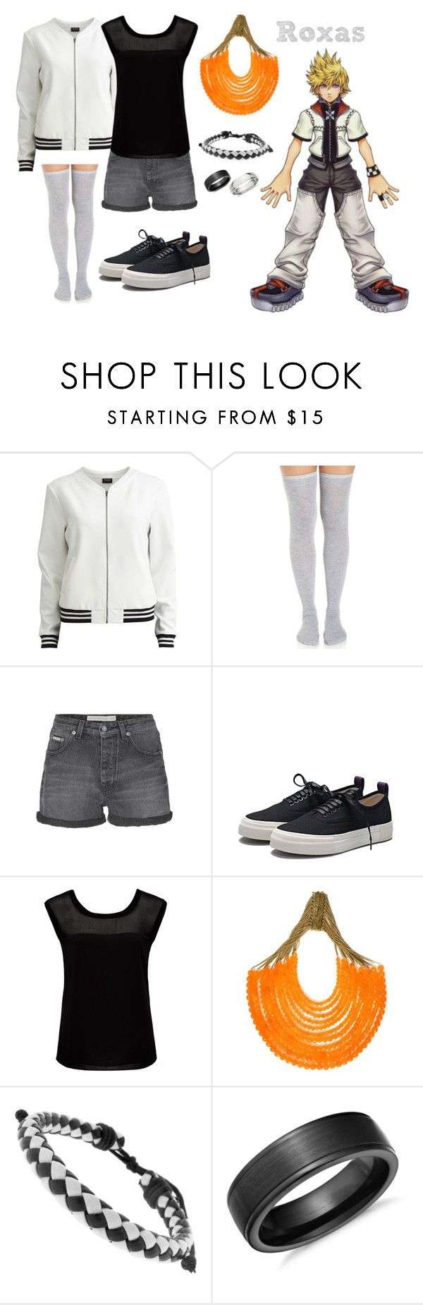 Kingdom Hearts Roxas Inspired Outfit by rfacklam on Polyvore featuring Forever New, VILA, Calvin Klein Jeans, Eytys, Rosantica, Moise, Blue Nile, KingdomHearts, Roxas and kh