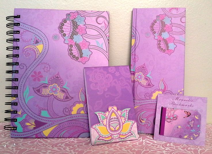 Girls/Childs Butterfly Notebook, Notepad & Bookmark Boxed Set Purple