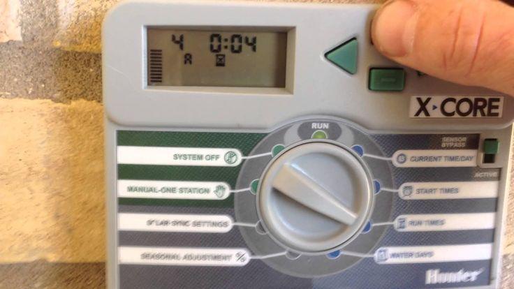 Programming the Hunter X-Core sprinkler controller