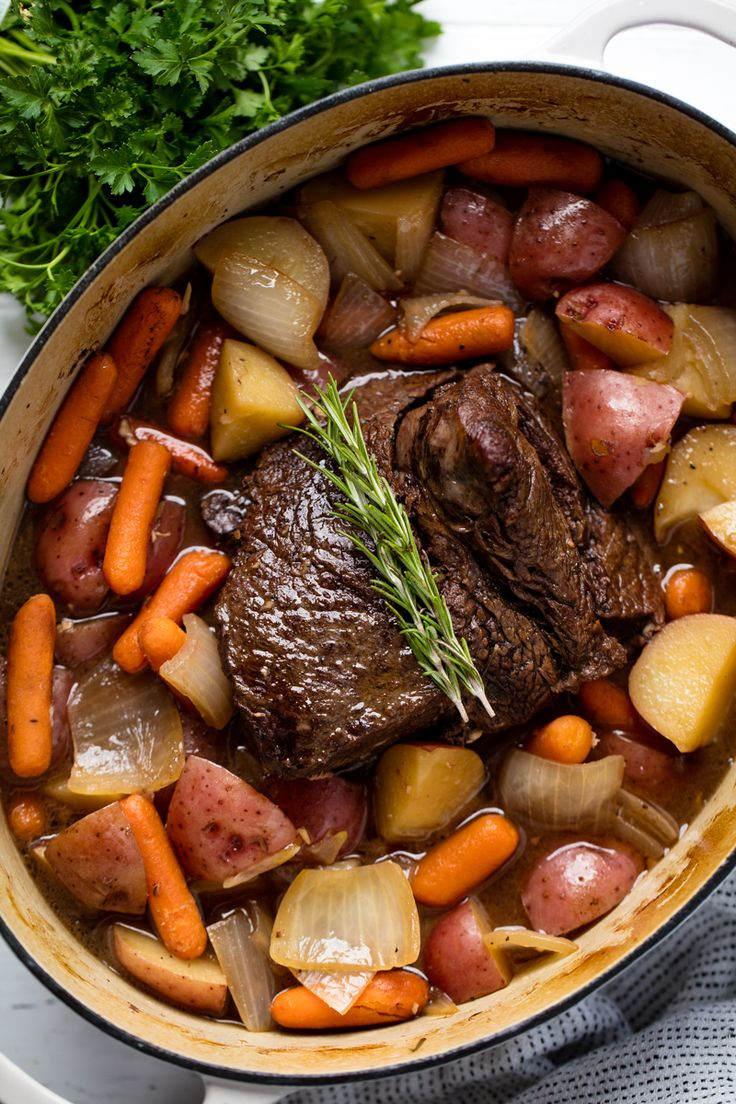 Classic Sunday Pot Roast is an easy to make comfort food that is hearty, filling…