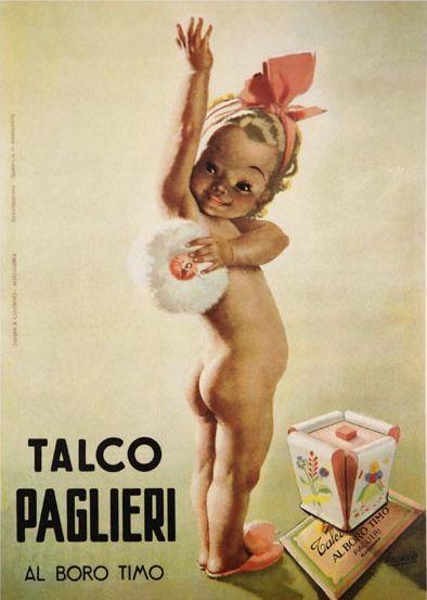 Poster Advertising by Gino Boccasile (1901-1952), Talco Paglieri. #ItalianPoster