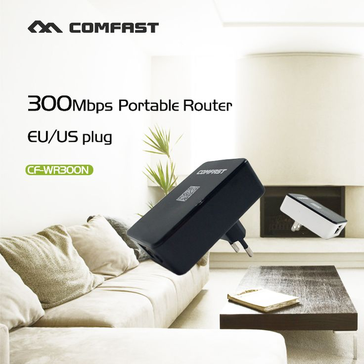 Wireless WiFi Repeater Signal Amplifier 802.11N/B/G Wi-fi Range Extander 300Mbps Signal Boosters Repetidor Wifi Wps Encryption #Affiliate