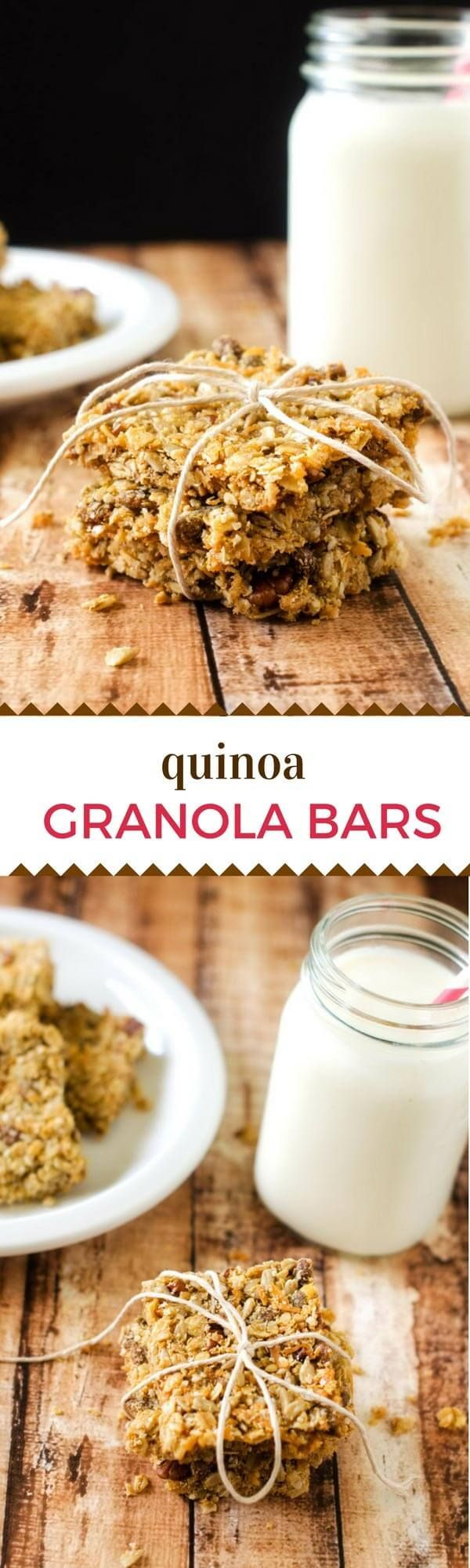 These Quinoa Granola Bars make a delicious, healthy snack that you can feel good about serving your family! #glutenfree #vegan via @wendypolisi