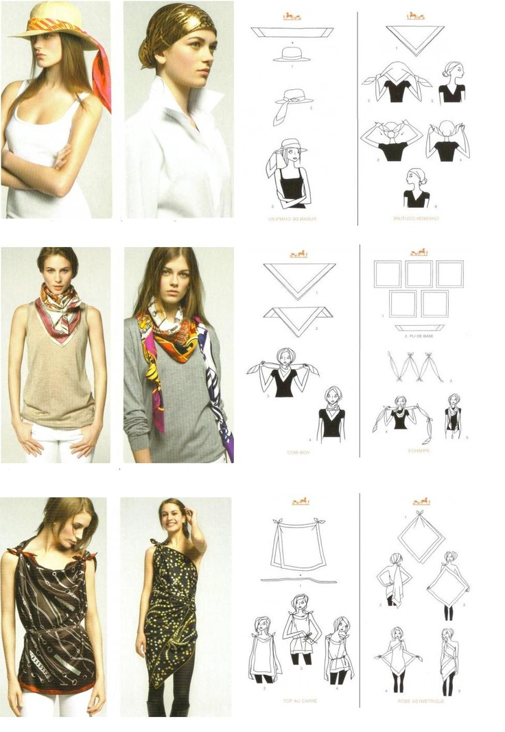 Hermes scarf how-tos