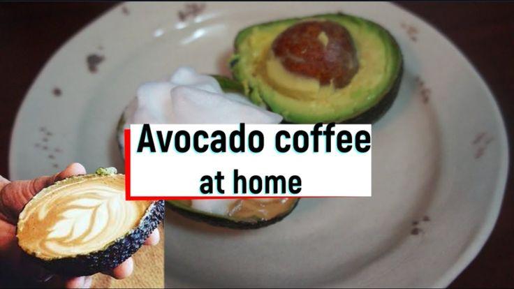 해외에서 핫한 아보카도 커피집에서 만들기! avocado coffee at home!