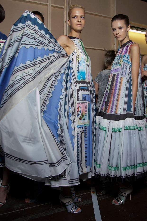 Backstage at Mary Katrantzou SS13 by Daniel Dykes
