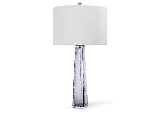 Tapered Glass Table Lamp, Smoke Gray