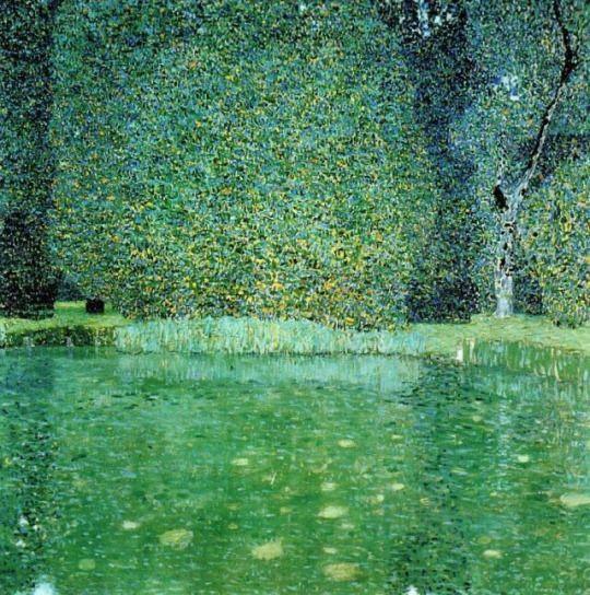 Pond at Schloss Kammer on the Attersee, Gustav Klimt