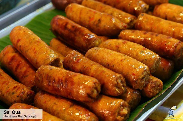 Sai Oua (Northern Thai Sausage)#photooftheday #Phuketindex #Phuket #Thailand #lovefood #tastyfood #food #Aroy #delicious #NorthernThaiSausage #ThaiSausage #Sausage #GroundPork #LocalElk #deer #WildBoar #meat