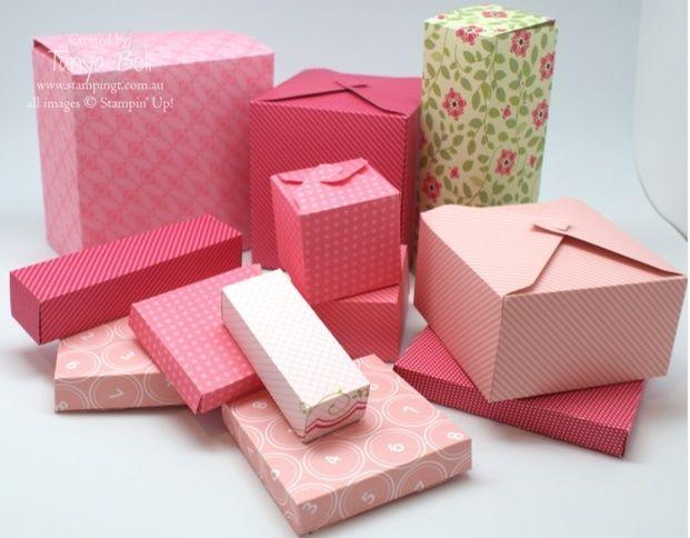 plein de boites à réaliser avec l'insta enveloppes!